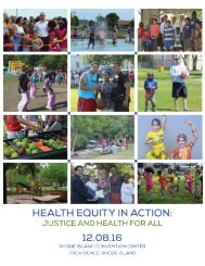 2016 Health Equity Summit Health Equity in Action Justice and Health For All