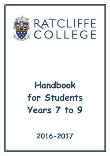 Ratcliffe-College-Key-Stage-3-Handbook-2016-2017