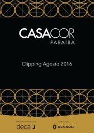 Clipping Casa Cor Paraíba - Agosto 2016