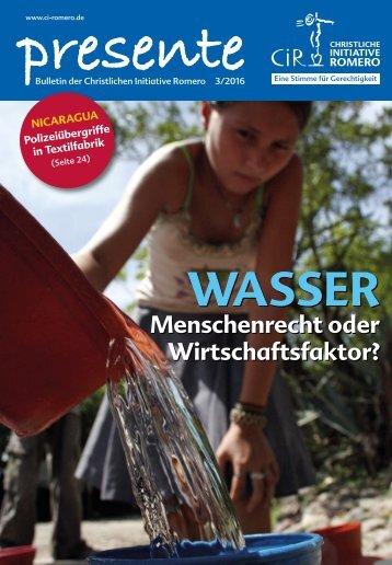 Wasser - Menschenrecht oder Wirtschaftsfaktor?