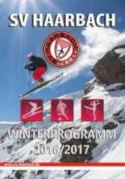 Ski Programm SV Haarbach 2016-2017