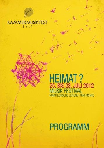 PROGRAMM - kammer musik fest sylt 2012.