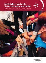 Delaktighet i skolan för flickor och pojkar med adhd