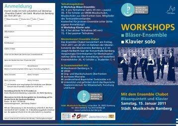 WorKShopS - Städtische Musikschule Bamberg