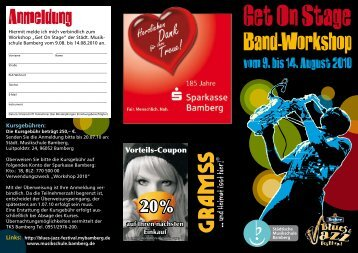 Band-Workshop - Blues- & Jazz-Festival
