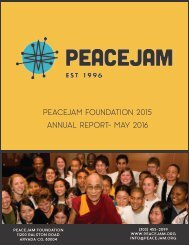 PeaceJam Foundation 2015 Annual Report- May 2016