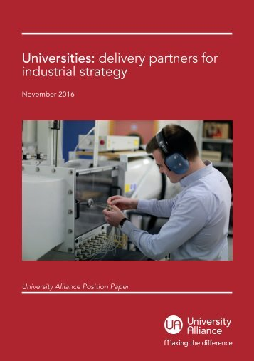 Universities delivery partners for industrial strategy