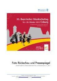 Foto Rückschau und Pressespiegel - Verband Bayerischer Sing