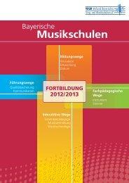 Neues Fortbildungsprogramm - Verband Bayerischer Sing