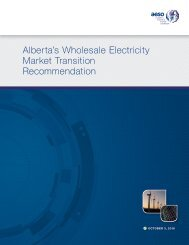 Alberta's Wholesale Electricity Market Transition Recommendation