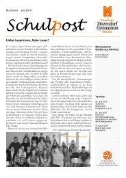 Schulpost - Evangelisches Zinzendorf-Gymnasium Herrnhut
