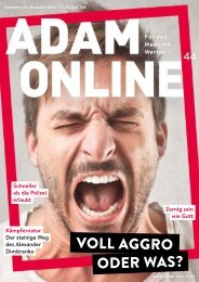 Adam online Nr. 44 Vorschau