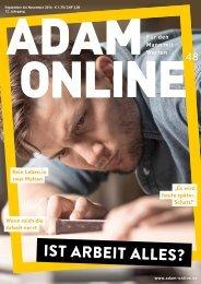 Adam online Nr. 48 Vorschau