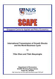 Singapore Centre for Applied and Policy Economics