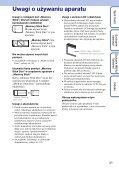 Sony DSC-W180 - DSC-W180 Istruzioni per l'uso Polacco - Page 3