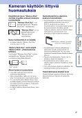 Sony DSC-W180 - DSC-W180 Istruzioni per l'uso Finlandese - Page 3