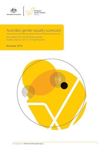 Australia's gender equality scorecard