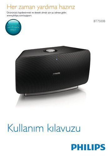 Philips Enceinte sans fil - Mode d'emploi - TUR