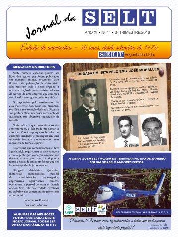 SELT Engenharia - Jornal Comemoratívo 40 Anos