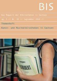 Themenheft Kunst - Das Magazin der Bibliotheken in Sachsen