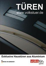Haustüren aus Aluminium www.volkstuer.de