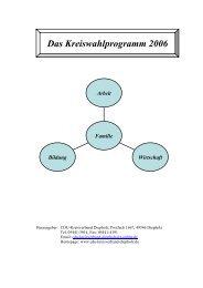 Wahlprogramm der CDU im Landkreis Diepholz zur Kommunalwahl ...