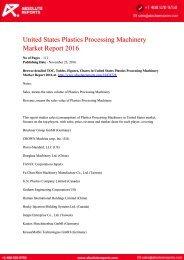 United States Plastics Processing Machinery Market