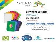 Drawstring Backpack - Chameleon Print Group - Australia