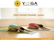 Yoga Teacher Training  - Sydney  (Part Time)