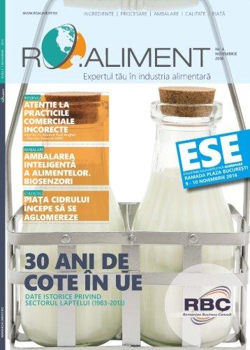 Revista RO.aliment editia 4 - expertul tau in industria alimentara