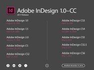 Adobe InDesign 1.0–CC
