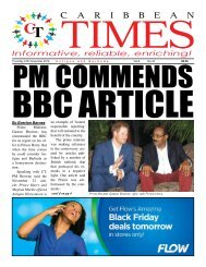 Caribbean Times 43rd Issue - Thursday 24th November 2016