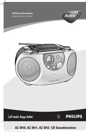 Philips Lecteur de CD - Mode d'emploi - FIN