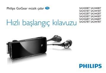 Philips GoGEAR Baladeur MP3 - Guide de mise en route - TUR