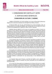 Boletín Oficial De Castilla Y León I Comunidad De Castilla Y