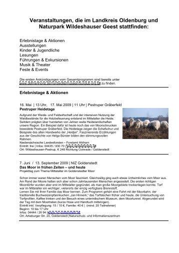 Veranstaltungen, die im Landkreis Oldenburg und Naturpark ...