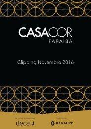 Clipping Casa Cor Paraíba - Novembro 2016