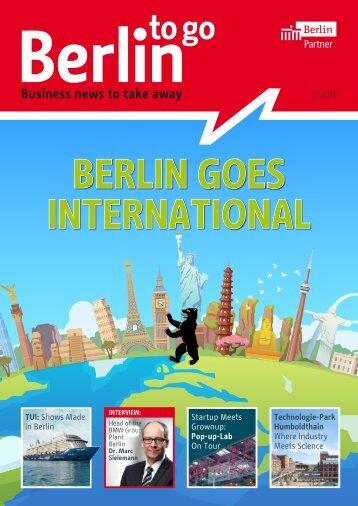 Berlin to go, english edition, 02/2016
