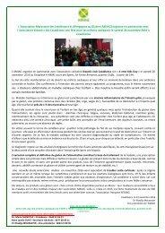 Fête des enfants intolérants au gluten le 26 novembre 2016  à Casablanca (communiqué en arabe et en français)