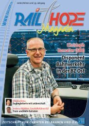 RailHope Magazin 02/16 Deutsch