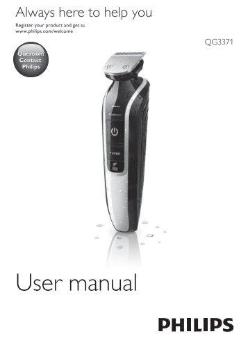 Philips Multigroom series 5000 Kit de soins étanche VISAGE, CHEVEUX - Mode d'emploi - ZHT