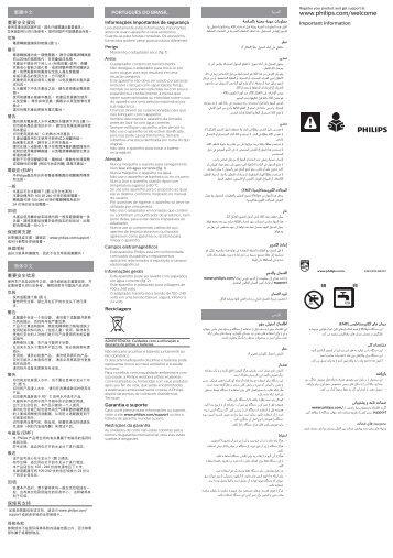 Philips Multigroom series 5000 Kit de soins étanche VISAGE, CHEVEUX - Instructions avant utilisation - VIE