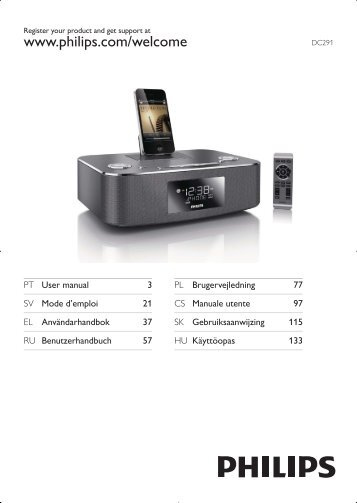 Philips Station d'accueil pour iPod/iPhone/iPad - Mode d'emploi - SWE