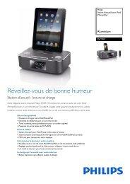 Philips Station d'accueil pour iPod/iPhone/iPad - Fiche Produit - FRA