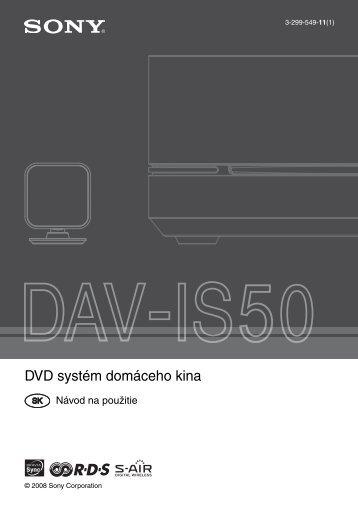 Sony DAV-IS50 - DAV-IS50 Istruzioni per l'uso Slovacco