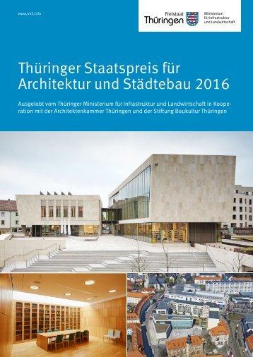 Thüringer Staatspreis für Architektur und Städtebau 2016
