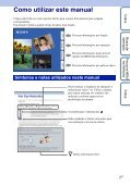 Sony DSC-W350 - DSC-W350 Istruzioni per l'uso Portoghese - Page 2