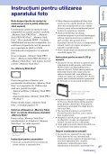 Sony DSC-W350 - DSC-W350 Istruzioni per l'uso Rumeno - Page 3