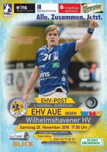EHV Post EHV Aue gegen Wilhelmshavener HV