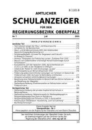 amtlicher schulanzeiger - Regierung der Oberpfalz - Bayern